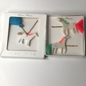 Anthropologie necklace and hairpins NWT